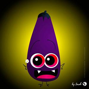 Purplerene, la monstro aubergine